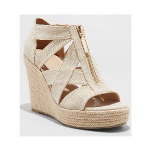 Macie Espadrille Wedges with Zipper NIB
